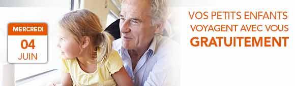 Offre enfant gratuit carte senior+