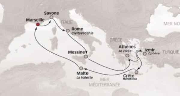 Croisière en Méditerranée
