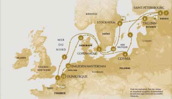 Croisière en mer Baltique