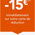 Carte senior réduction 15 euros