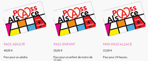 Prix des differents Pass'Alsace