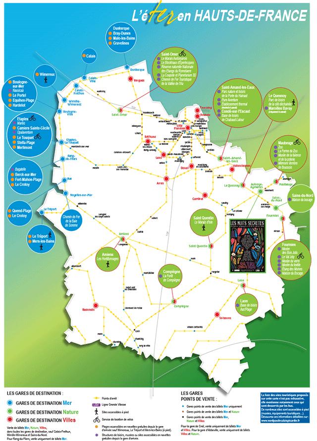 carte ter hauts de france C'est l'éTER en région Hauts de France:les billets de train TER