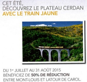 Réduction pour le train jaune