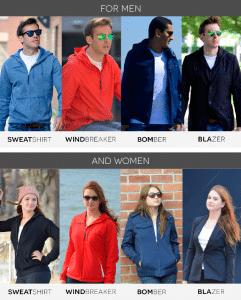 Modèles veste Baubaxe