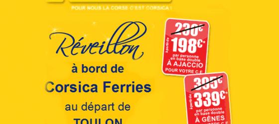 Réveillon à bord de Corsica Ferries!