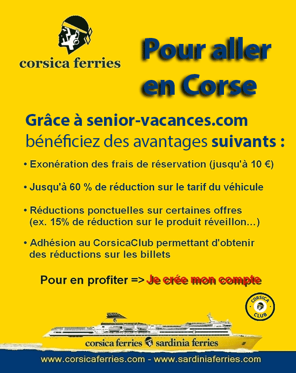 tarif special senior chez corsica ferries. Black Bedroom Furniture Sets. Home Design Ideas