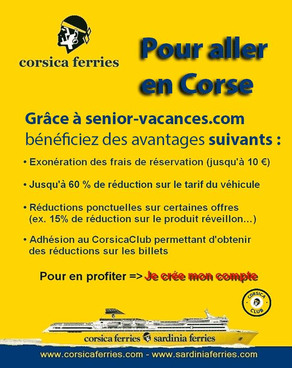 Offre Corsica Ferries senior-vacances.comOffre Corsica Ferries senior-vacances.com