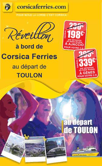 CORSICA FERRIES : -15% sur votre Réveillon à bord de Corsica Ferries!