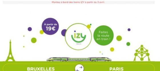 Offre Izy de Thalys