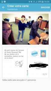 Fizzer, l'application qui envoie vos cartes postales