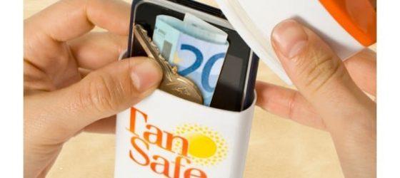 Faux tube de crème solaire pour cacher son argent en voyage