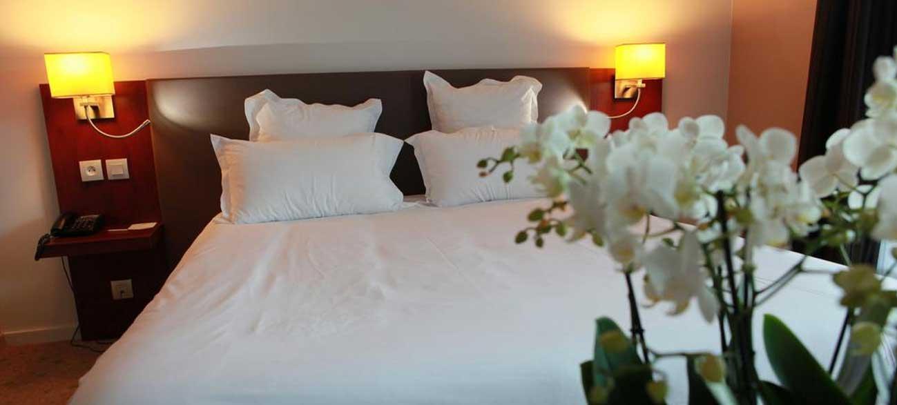 Chambre de l'hôtel Best Western Aquakub à Aix-les-Bains