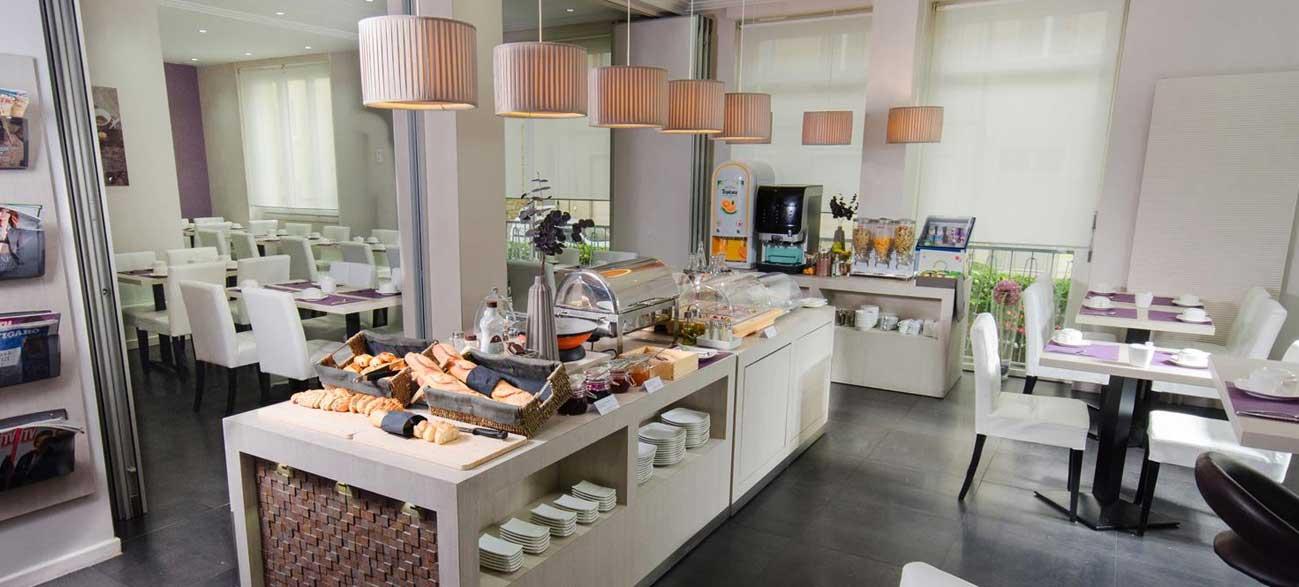 Petit-déjeuner de l'hôtel Best western Plaisance en Beaujolais