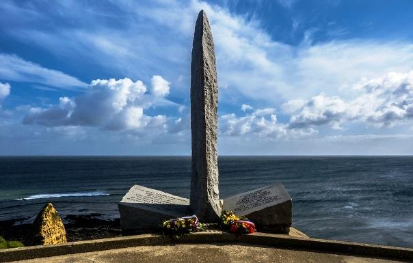 Plage du debarquement de Normandie Omaha Beach