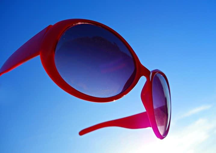Monture de lunettes de soleil ronde
