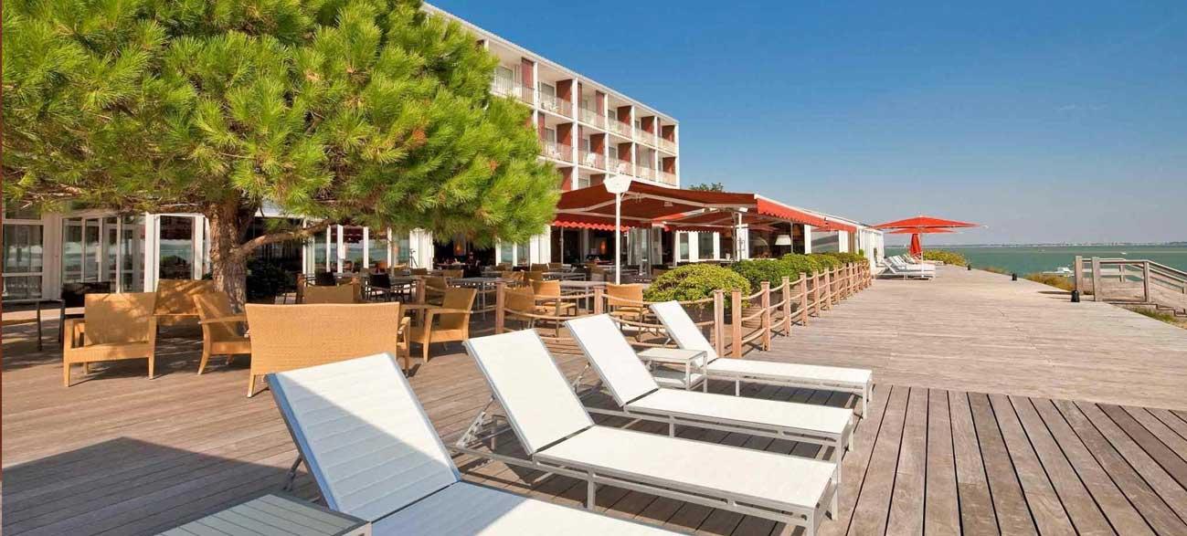 Terrasse de l'hôtel Thalassa Oleron Saint Trojan