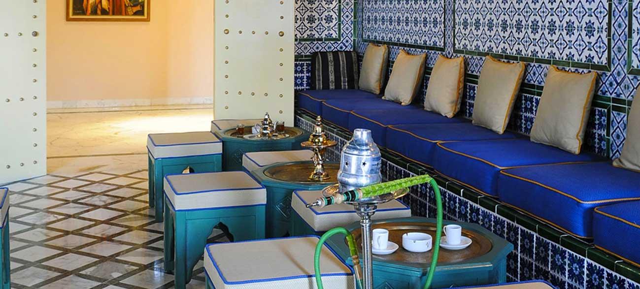 Café de l'hôtel Vincci Helios Beach à Djerba
