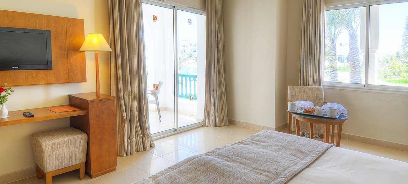 Chambre de l'hôtel Vincci Helios Beach à Djerba