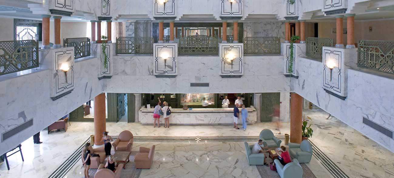 Hall de l'hôtel Vincci Helios Beach à Djerba