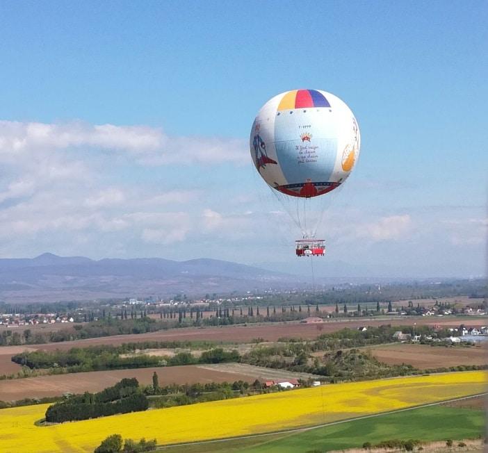 Survol de l'Alsace en ballon au parc du petit Prince