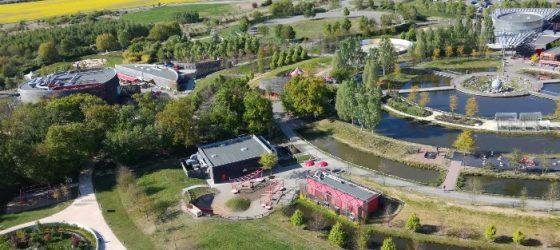 Vue aérienne du parc du Petit Prince depuis un ballon