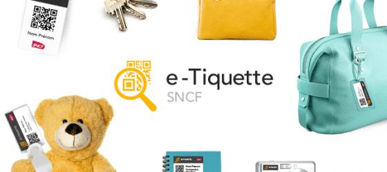 Etiquette personnalisée à imprimer pour bagage SNCF