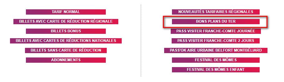 Réserver un bon plan TER Bourgogne