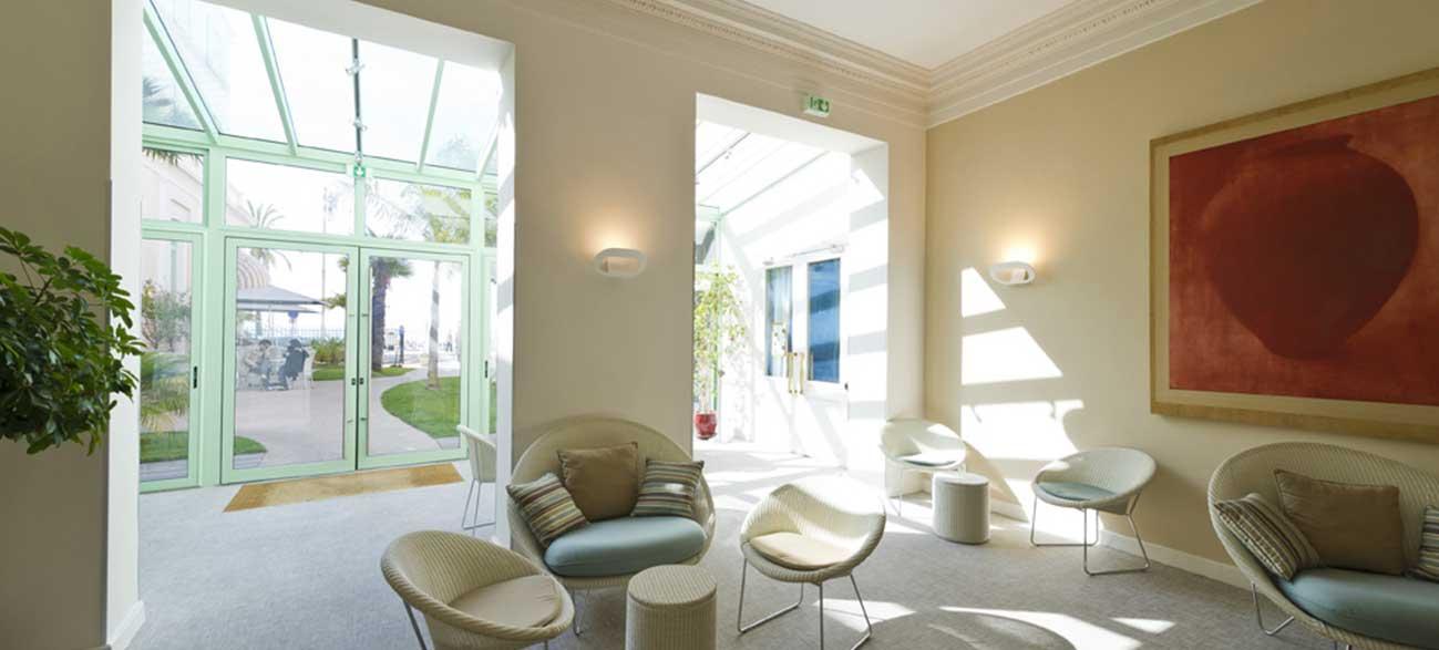 Salon de l'hôtel Balmoral à Menton