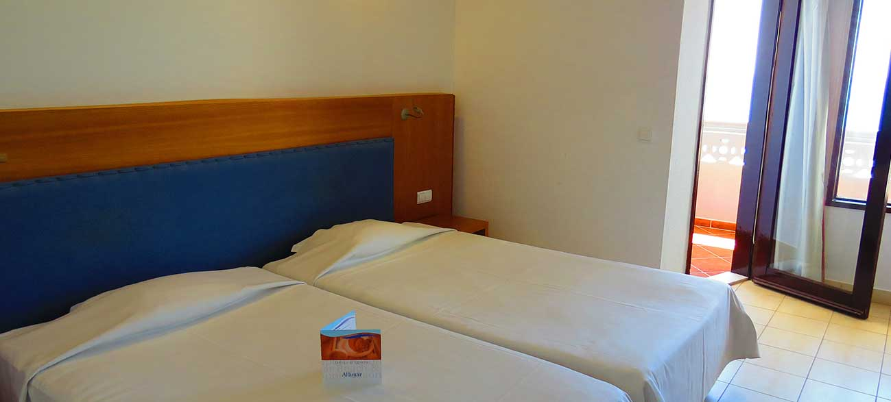 Chambre dans l'hôtel Alfamar à Albufeira au Portugal