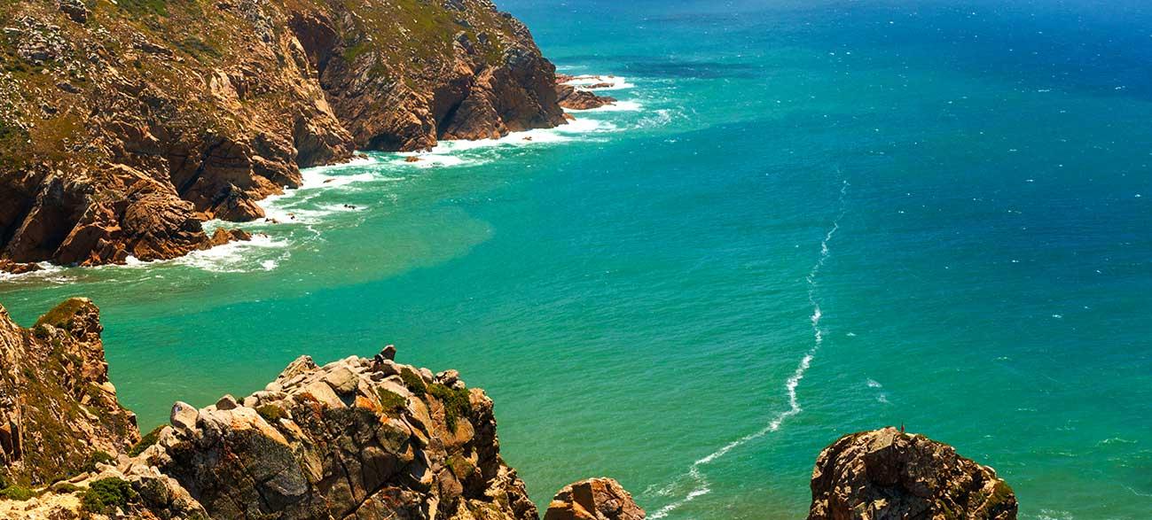 Paysage de mer en Algarve au Portugal
