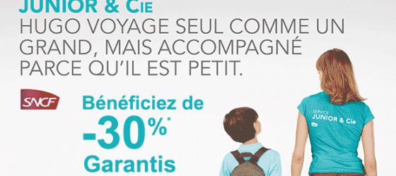 Promo su le service d'accompagnement d'enfants en train de la SNCF Junior & Cie