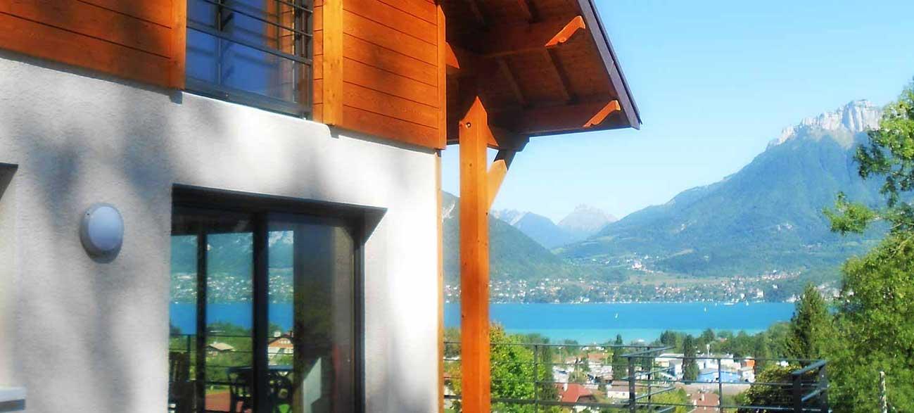 Location d'appartement avec vue sur le lac d'Annecy