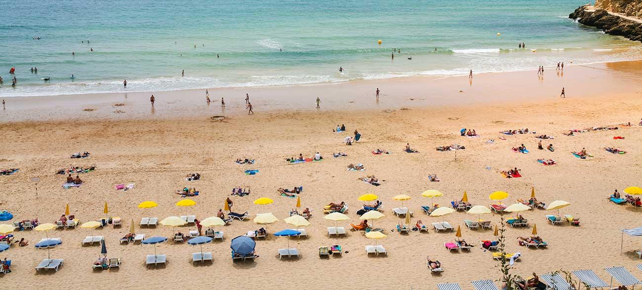Plage en Algarve Portugal