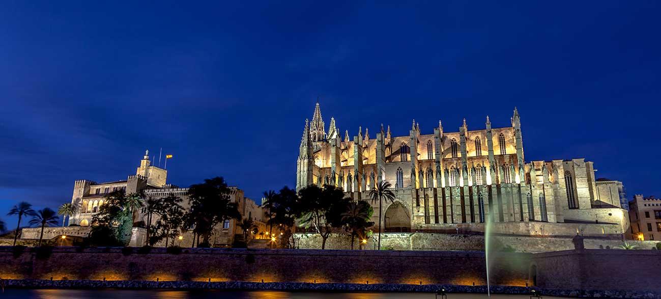 Cathédrale de Palma de Majorque aux Baléares