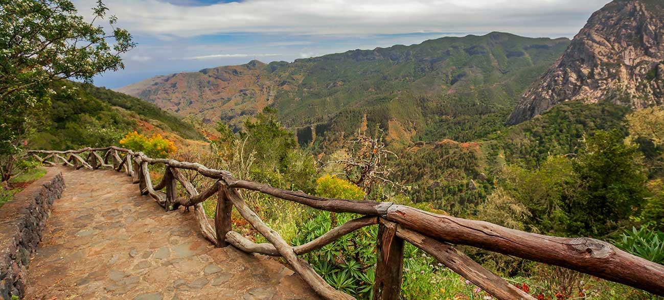 Paysage de l'île de la Gomera dans les Canaries