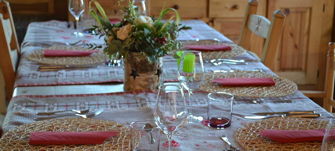 Cuisine table d'hôtes Les Roches Paîtres à Gérardmer