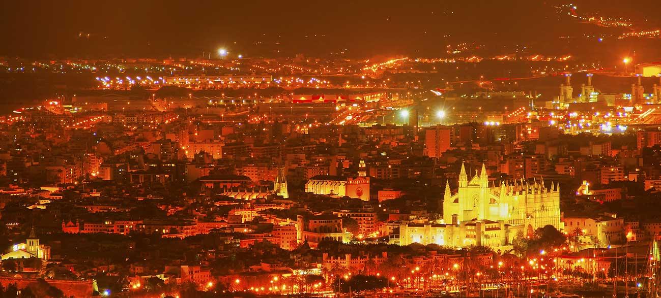 Ville de Palma de Majorque aux Baléares
