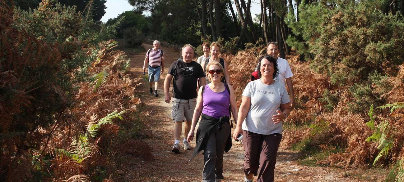 Groupe senior en balade Croisières Voile et Randonnée en Finistère