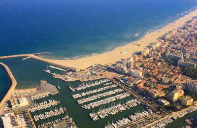 ville et plage de Canet-en-Roussillon