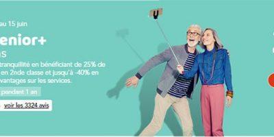 Carte senior plus 29au lieu de 60€