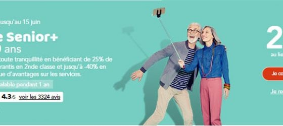 Carte senior plus 29 au lieu de 60€