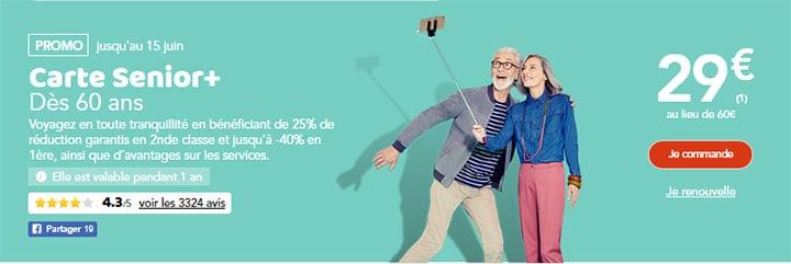 prix de la carte senior sncf Promotion sur la Carte senior SNCF : votre carte à moitié prix!