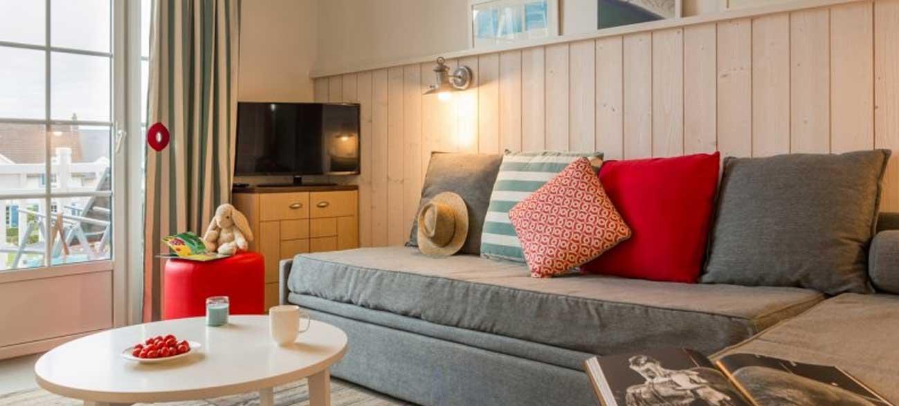 Coin télé appartement de la résidence de la plage Le Crotoy Baie de Somme