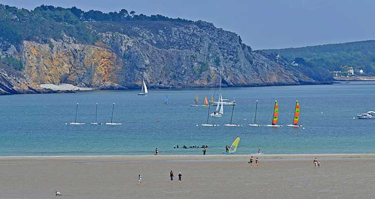 Plage de Morgat en Bretagne