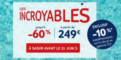 Promotions TUI Les Incroyables