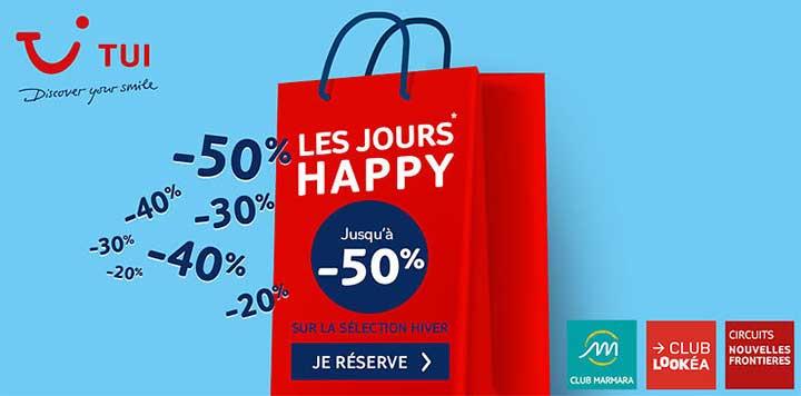 Promotions Tui : Les Jours Happy