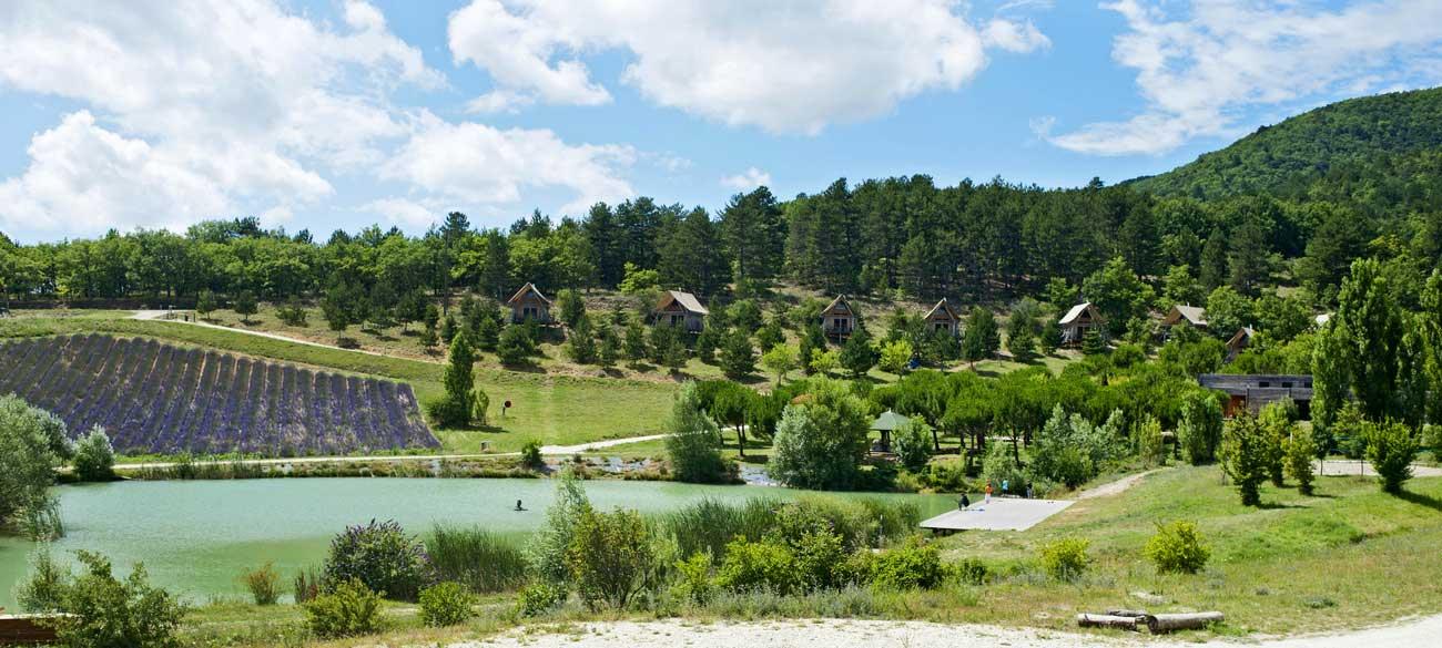 Village Huttopia de Dieulefit en Drôme Provençale