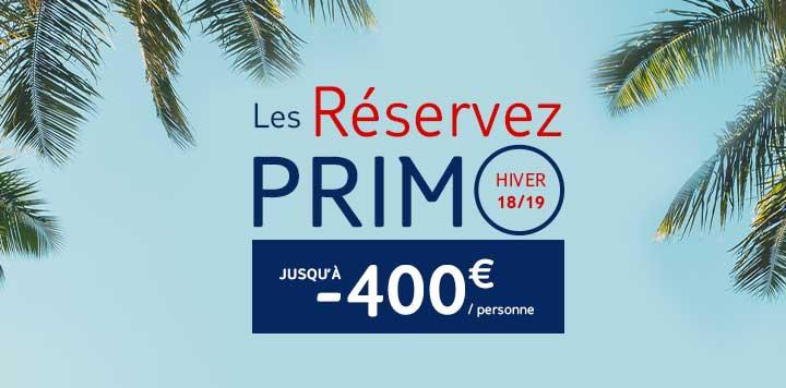 Offre Primo Hiver TUI 2018/2019