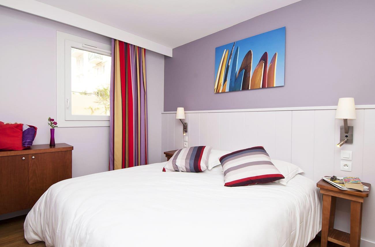 Chambre dans un appartement en location en résidence premium Haguna Biarritz
