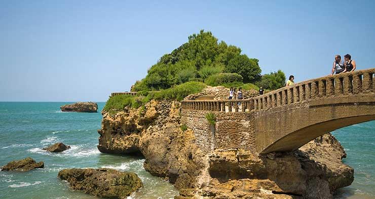 Rocher du Basta à Biarritz